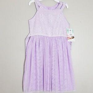 NWT Bonnie Jean Lavender Embellished Dress